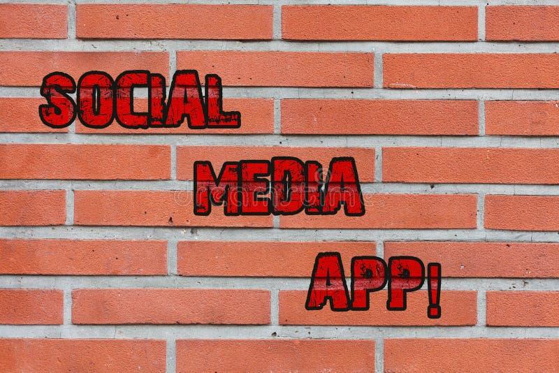 Wortschreibenstext Social Media App Geschäftskonzept für Schaffung und das Teilen von Ideenkarriereinteressen über Internet Ziege lizenzfreie abbildung