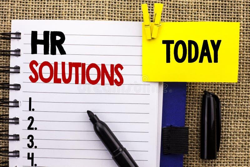 Wortschreibenstext Stunden-Lösungen Geschäftskonzept für das Einstellungs-Lösungs-Beratungsmanagement, das Onboarding geschrieben lizenzfreies stockbild