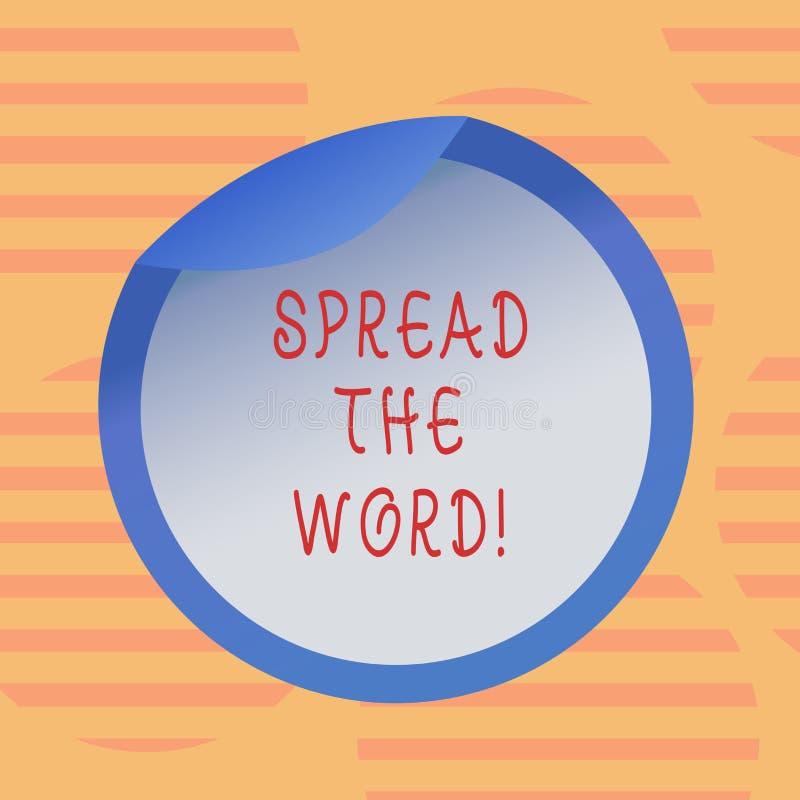 Wortschreibenstext verbreitete das Wort Geschäftskonzept für Communicate die Nachrichten zu jeder stellen etwas populäre Flasche  vektor abbildung
