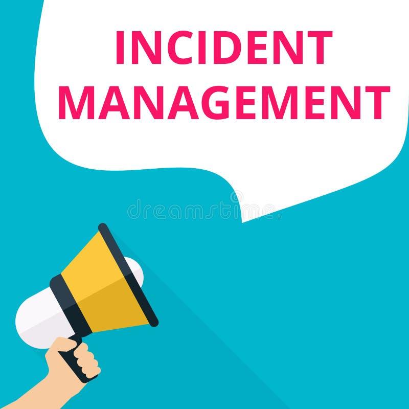 Wortschreibenstext Vorfall-Management stock abbildung