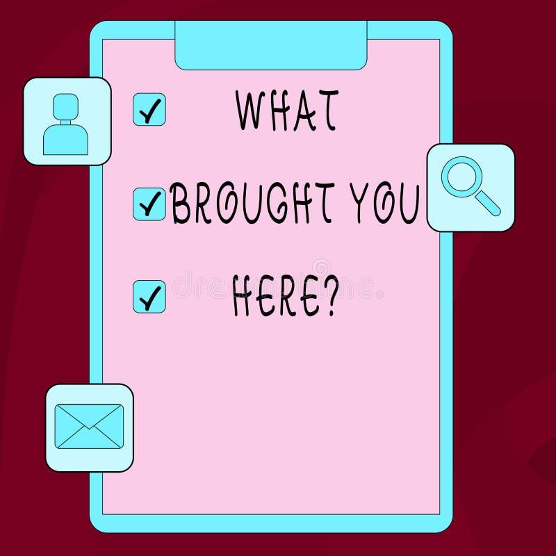 Wortschreibenstext, was Ihnen Herequestion holte Geschäftskonzept für Ehrgeiz kann, durch Bestimmung zu erreichen sein lizenzfreie abbildung