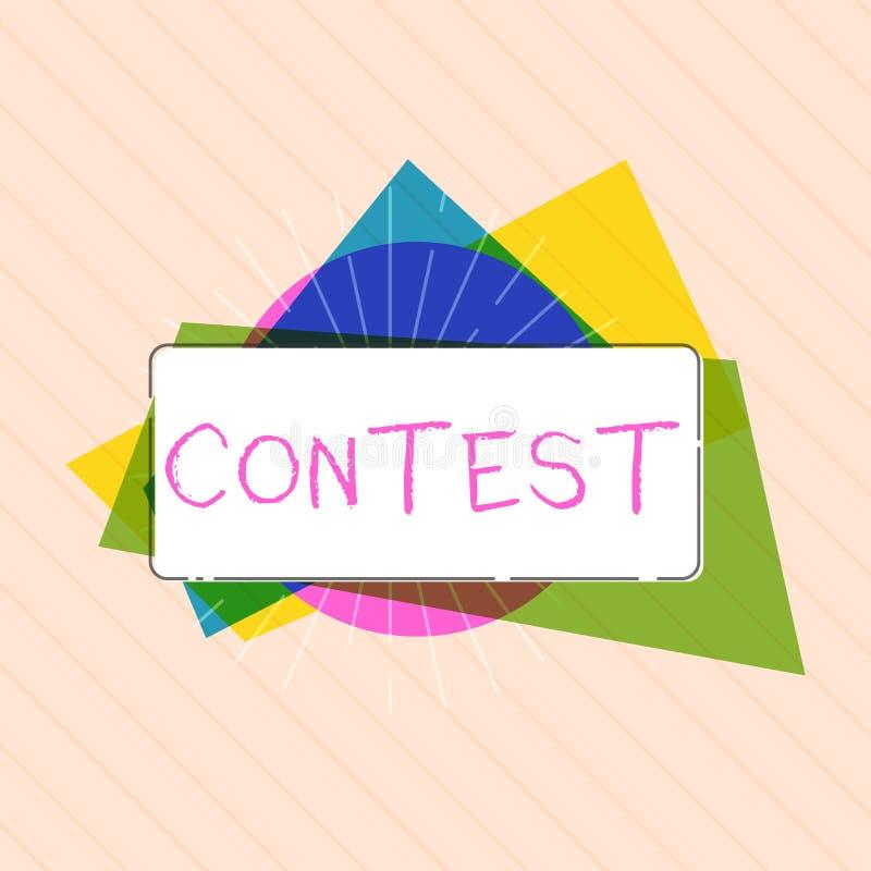 Wortschreibenstext Wettbewerb-Geschäftskonzept für Wettbewerb verbessern als andere Vertretung für prize Wahl vektor abbildung