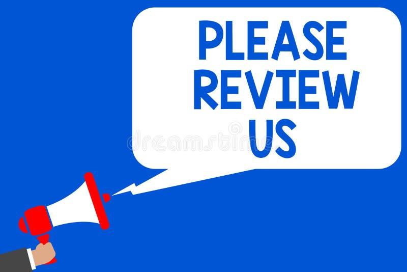 Wortschreibenstext wiederholen uns bitte Geschäftskonzept für Give eine Feedback Meinungs-Kommentar-Servicequalität mehrfache Lin stock abbildung
