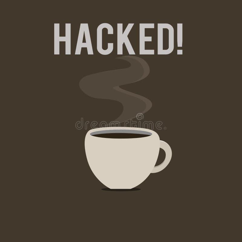 Wortschreibenstext zerhackt Geschäftskonzept für Gewinnunberechtigten zugriff zu den Daten System oder Computer im Cyberverbreche lizenzfreie abbildung