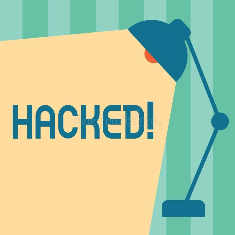 Wortschreibenstext zerhackt Geschäftskonzept für Gewinnunberechtigten zugriff zu den Daten System oder Computer im Cyberverbreche vektor abbildung