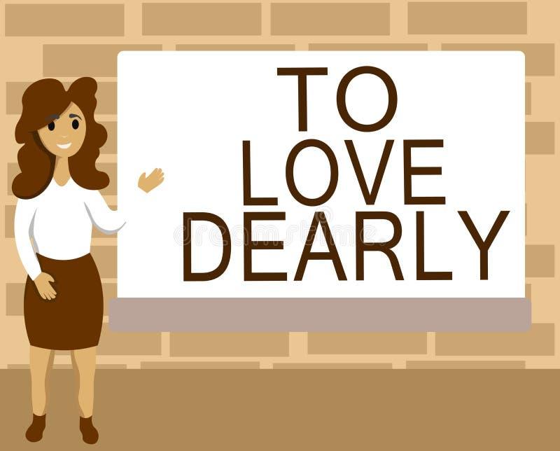 Wortschreibenstext, zum lieb zu lieben Geschäftskonzept für Liebe jemand sehr viel auf die bescheidenere Art und ziellos lizenzfreie abbildung