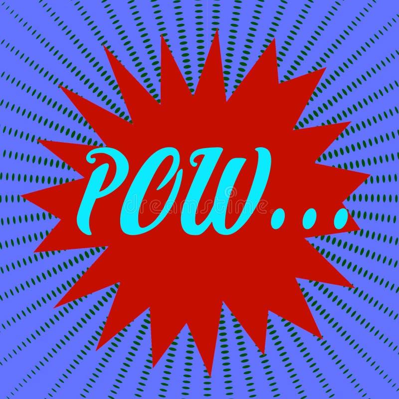 Wortspracheblase des KRIEGSGEFANGEN komische Weinlesegesprächsblase Starburst-Pop-Arten-Konzept vektor abbildung