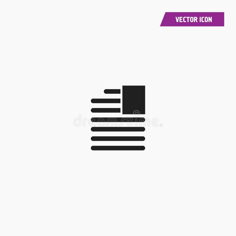 Worttext addieren Raum, Einsatzbild, Text übereinzustimmen lizenzfreie abbildung