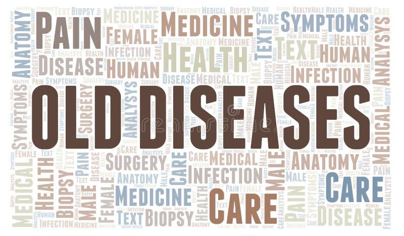 Wortwolke der alten Krankheiten vektor abbildung