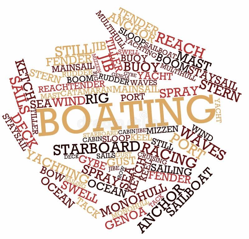 Wortwolke für Bootfahrt stock abbildung
