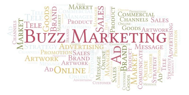 Wortwolke mit Text Summen-Marketing stock abbildung