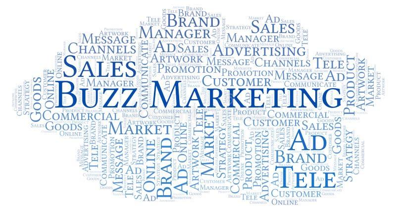 Wortwolke mit Text Summen-Marketing vektor abbildung