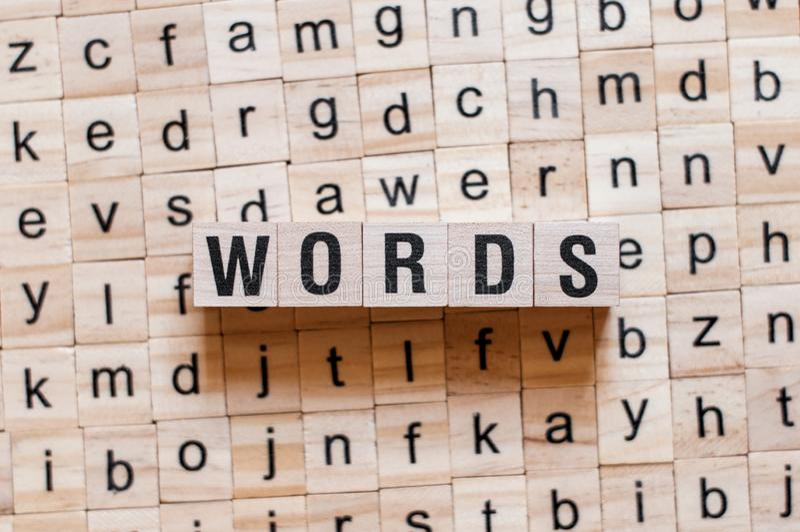 Wortwortkonzept lizenzfreie stockbilder