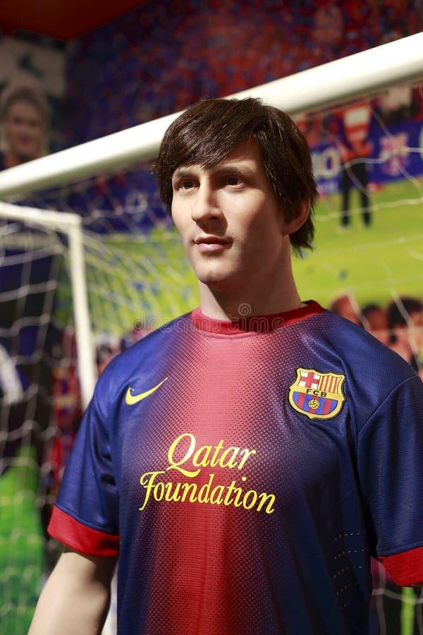 Wosk postać Leo messi fc Barcelona zdjęcie stock