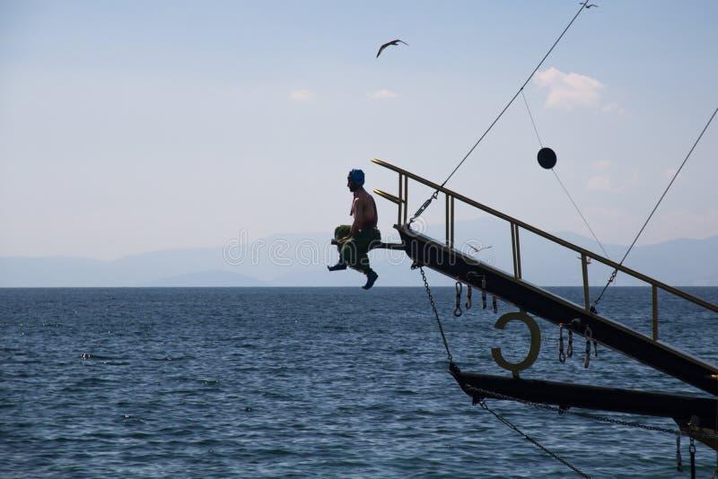 Wosk postać Turecka obstrukcja dołącza mównica Turecki przyjemność jacht zdjęcie stock