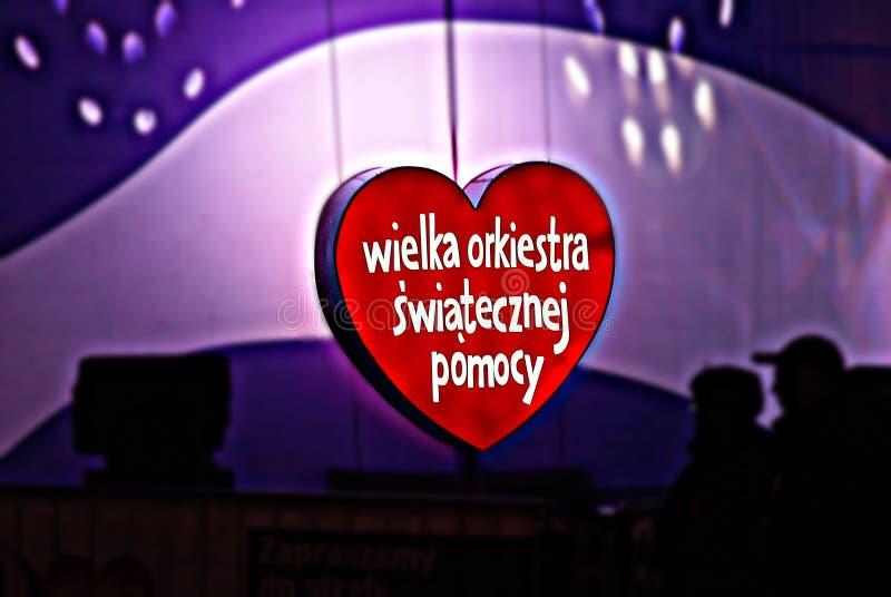 WOSP Bezpłatny koncert przy dobroczynności kampanią zdjęcie stock