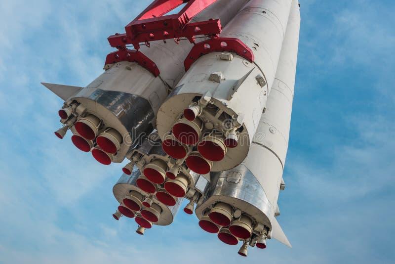 Wostok-Rakete stockfoto