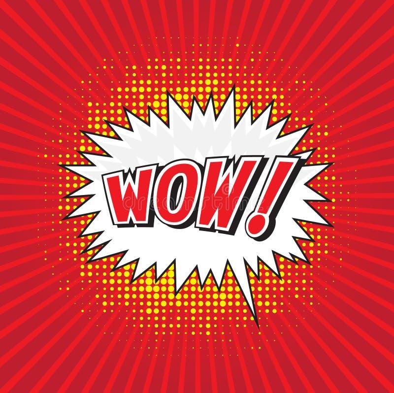 WOUAH ! mot comique illustration libre de droits