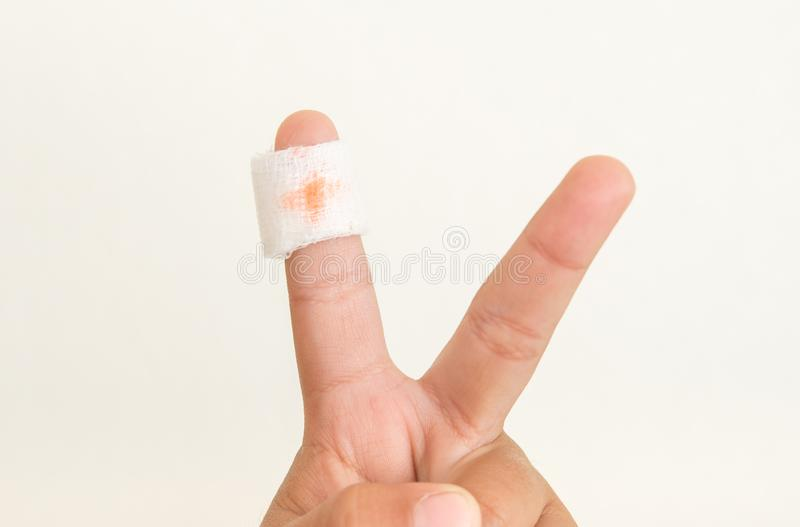 The wound in the child on finger. And health royalty free stock images