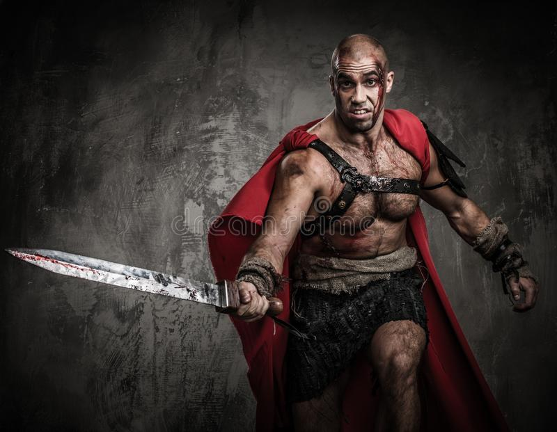 Download Wounded gladiator stock photo. Image of military, costume - 34644720