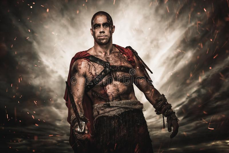 Download Wounded Gladiator With Sword Stock Photo - Image: 36530724