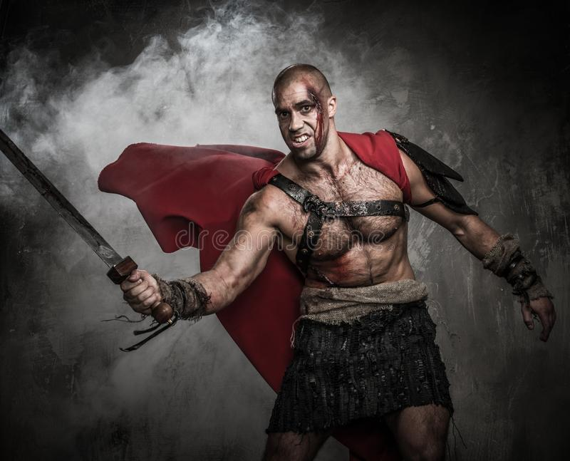 Download Wounded gladiator stock photo. Image of background, legionary - 34645024