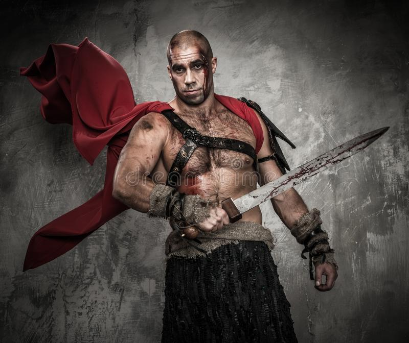 Download Wounded Gladiator With Sword Stock Image - Image: 36554659