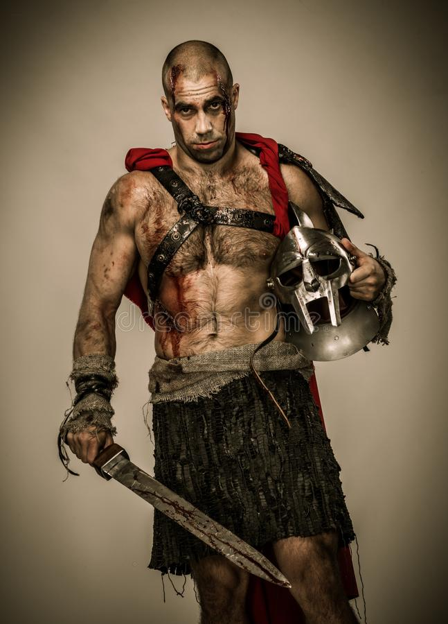 Download Wounded Gladiator With Sword Stock Photo - Image: 36552588