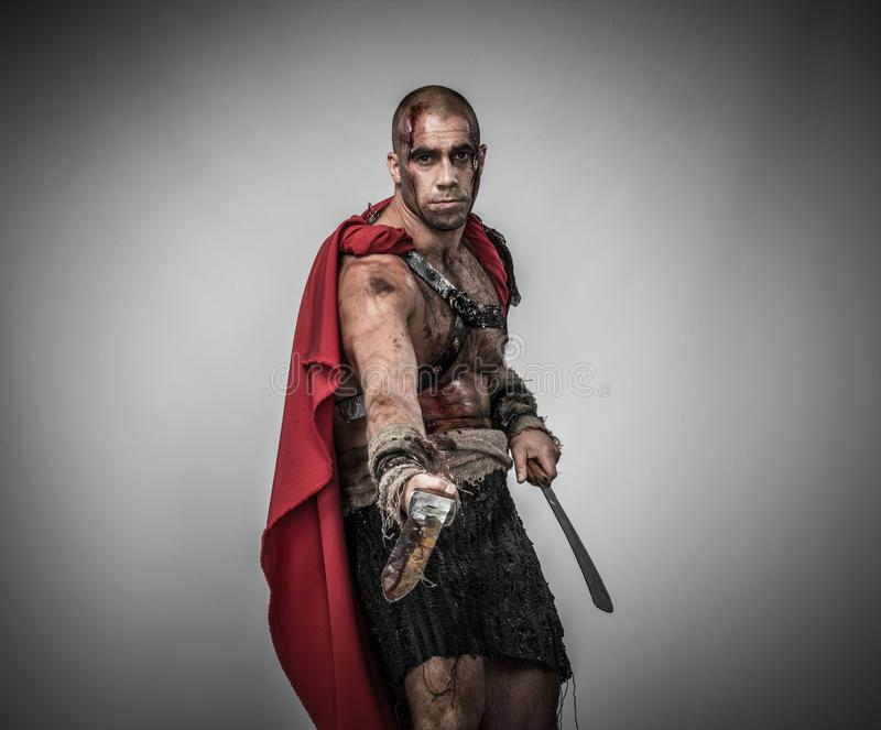 Download Wounded Gladiator With Sword Royalty Free Stock Photo - Image: 36530605