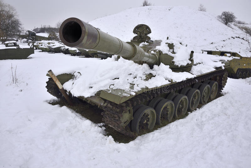 Wounded Russian tank royalty free stock image