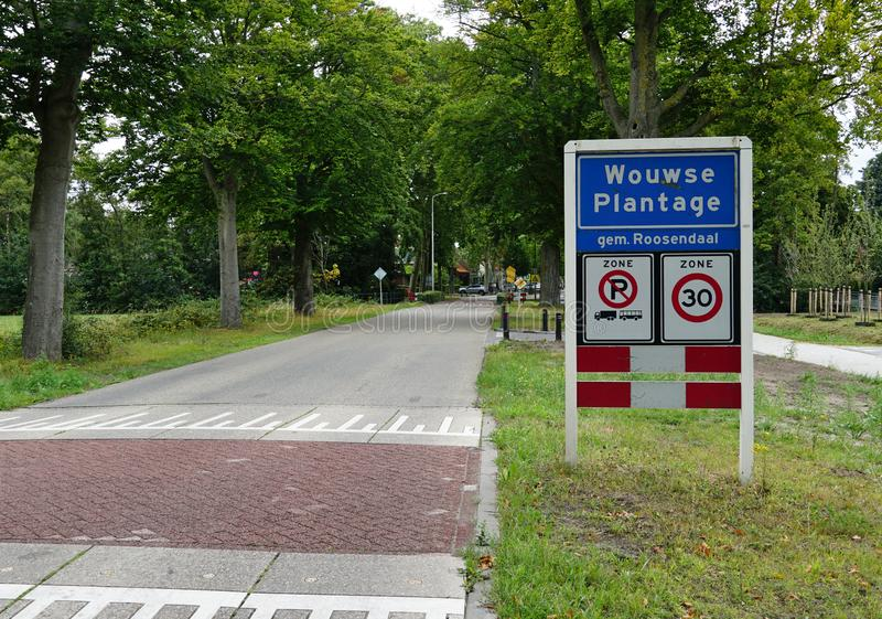 Wouwse Plantage村庄在荷兰 免版税图库摄影