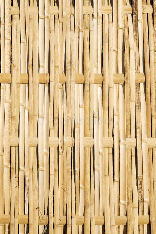 Woven Bamboo Fence Panel royalty free stock photo