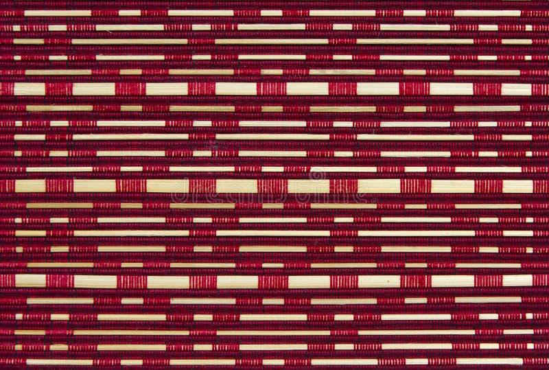 Woven bamboo pattern stock photo