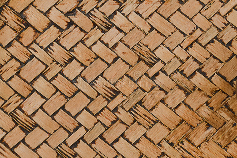 Woven bamboo texture for pattern and background royalty free stock photography