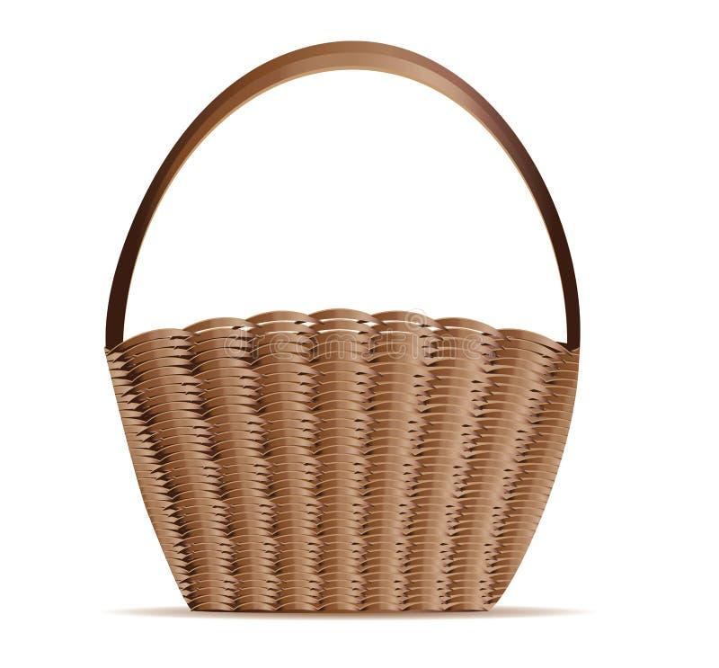 Woven basket vector illustration