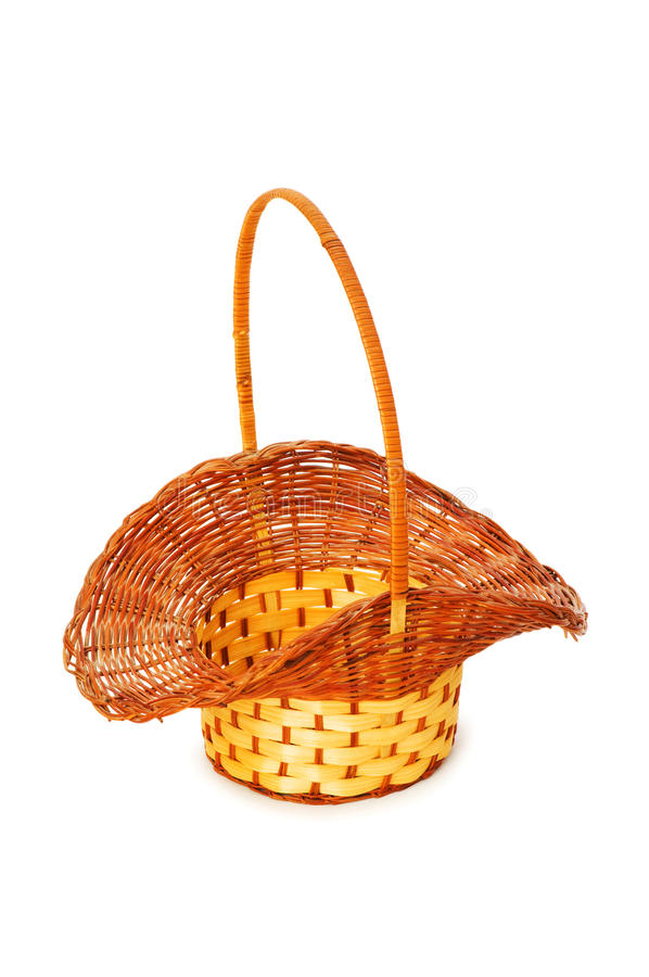 Download Woven Basket Isolated Stock Photo - Image: 9784380