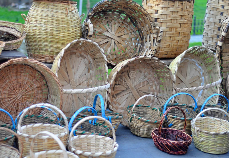 Download Woven baskets stock image. Image of shoots, wicker, straw - 29456811