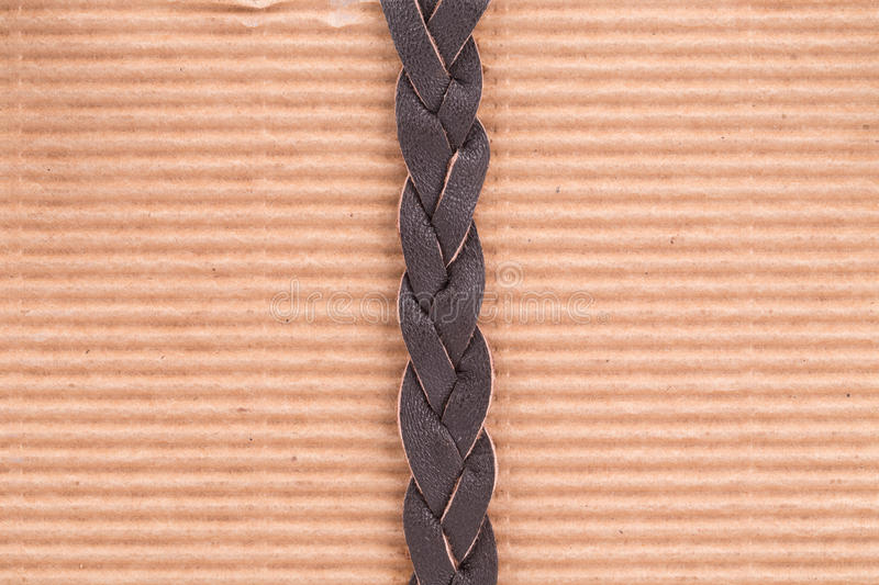 Download Woven brown leather belt. stock photo. Image of style - 43454250