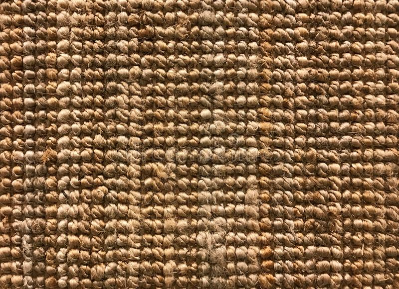 Woven carpet texture from sisal or natural fiber for background royalty free stock photography