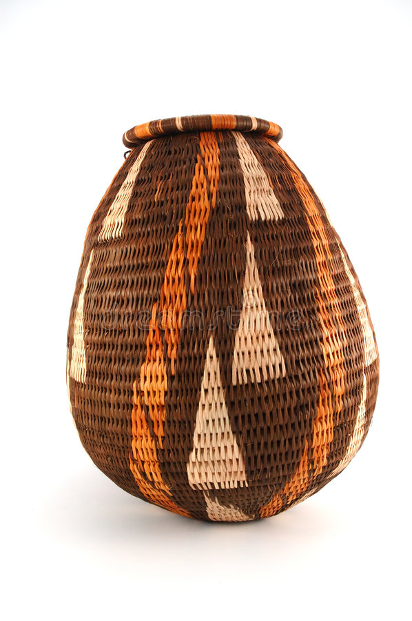 Download Woven Closed Basket From Botswana Stock Photo - Image: 253708