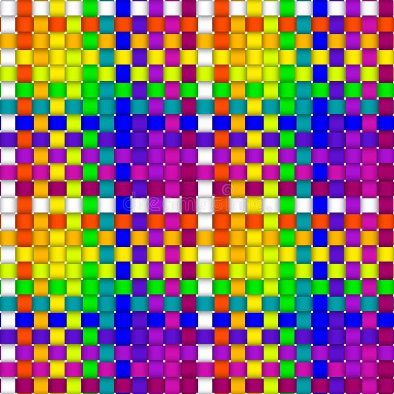 Woven crisscross plaid pattern seamless royalty free illustration