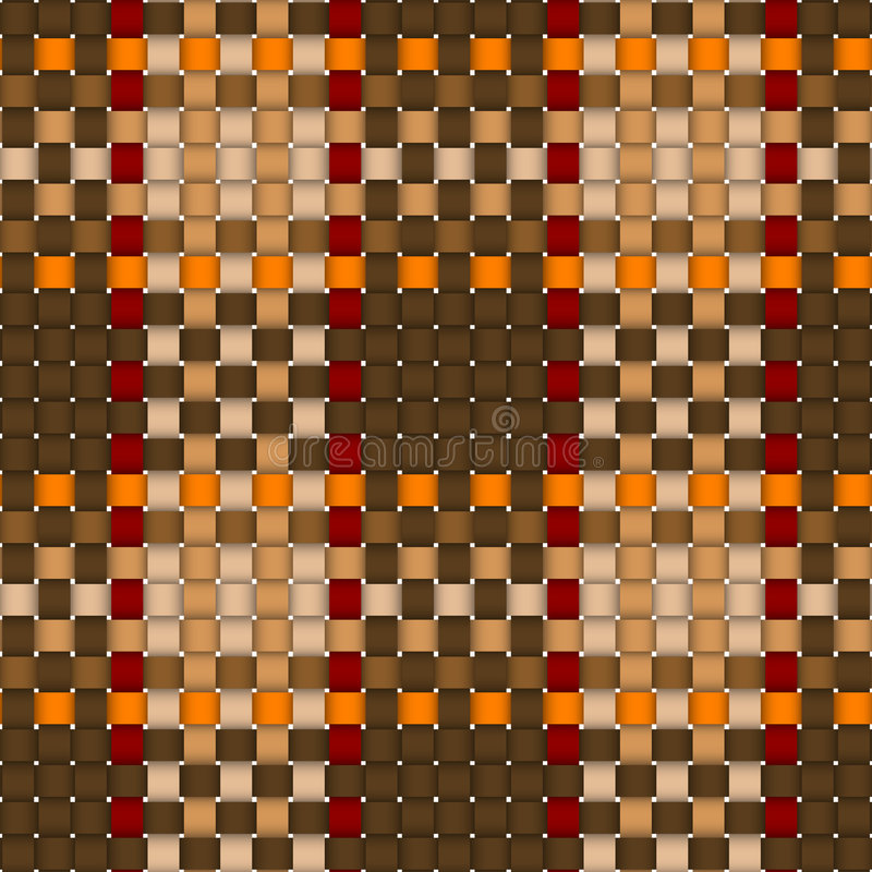 Woven crisscross plaid pattern seamless vector illustration