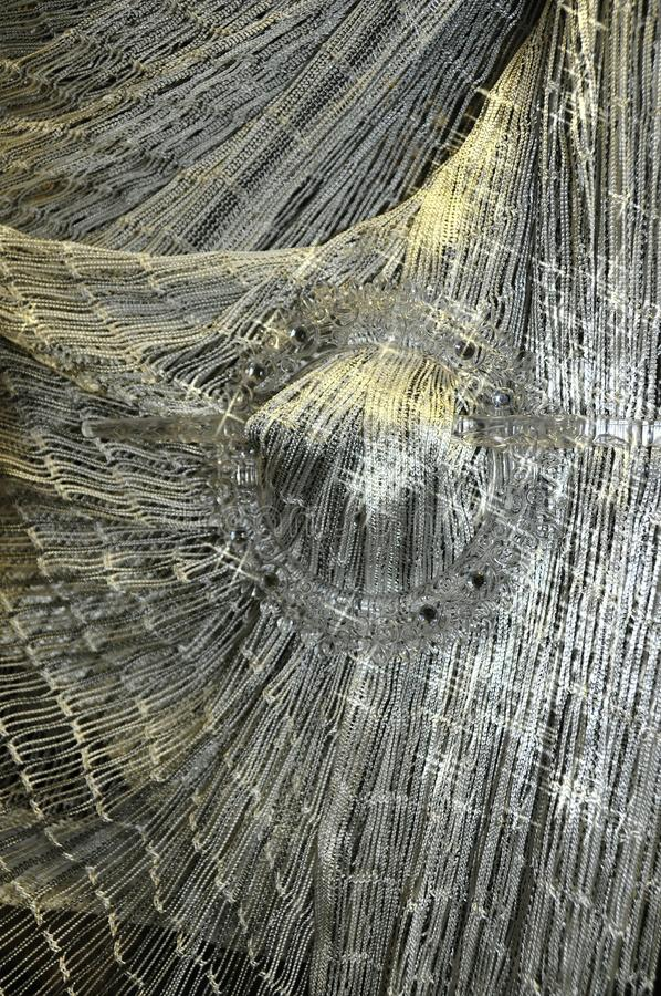 Woven fabric. Material achrom,woven fabric drapery network stock images