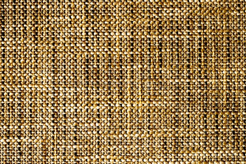 Woven fabric structure , macro. Brown woven fabric structure , macro stock image