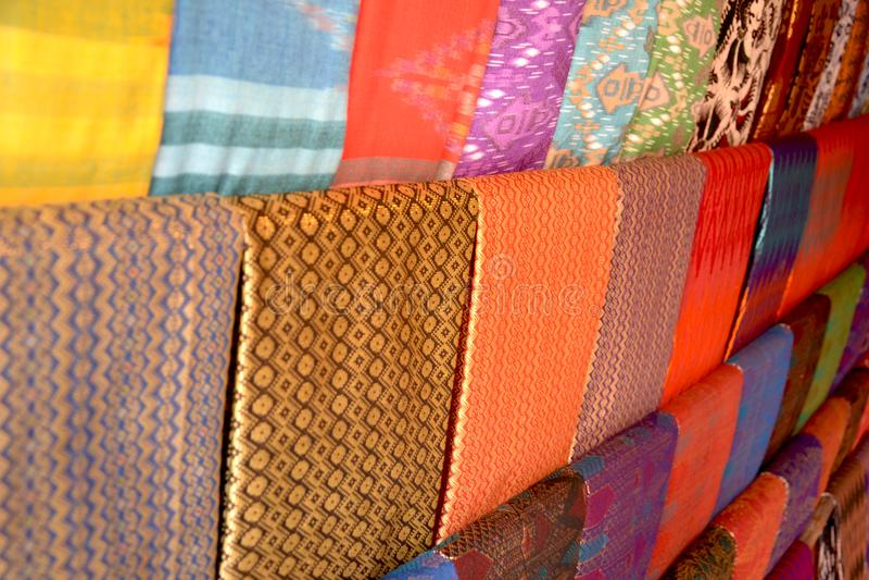 Woven fabric. Traditional handmade woven fabric from sasak tribe, lombok island stock photo