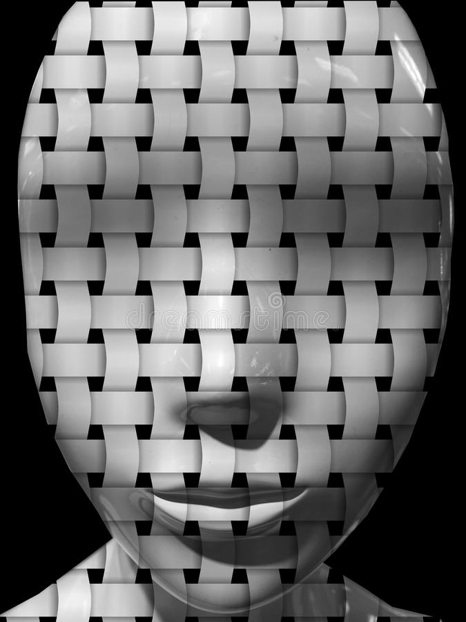 Woven Face vector illustration