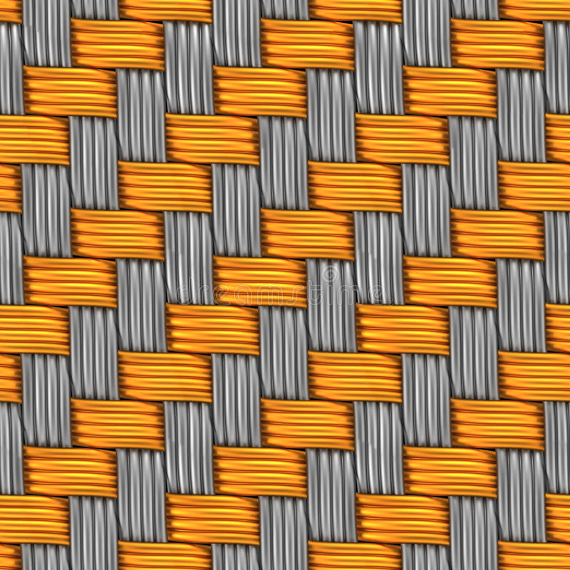 Download Woven Gold And Silver. Seamless Texture. Stock Illustration - Image: 30482214