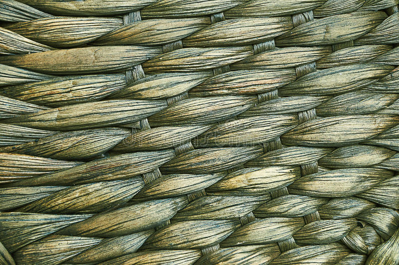 Woven mat of tropical plants. stock photography