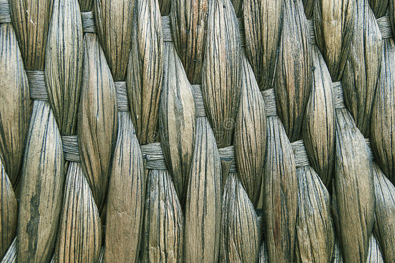 Woven mat of tropical plants. royalty free stock image