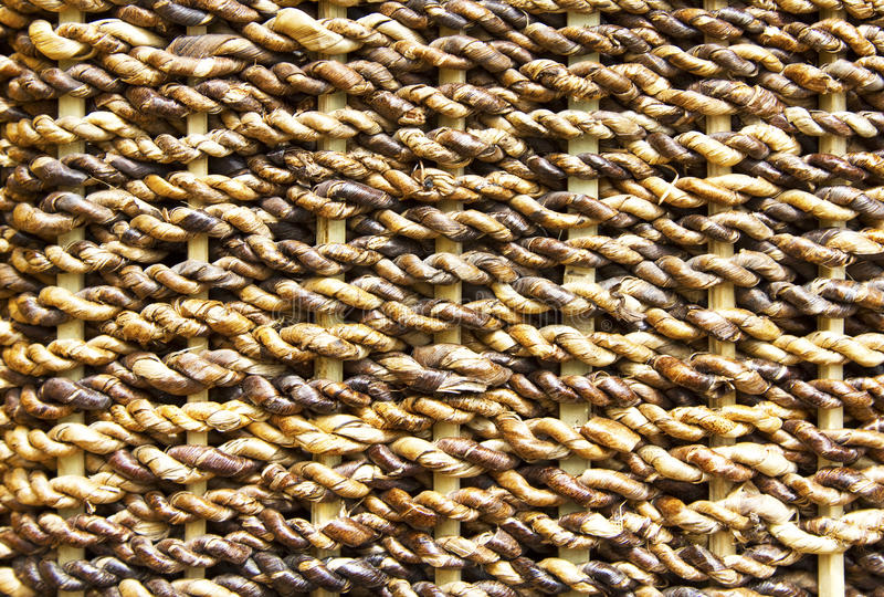 Woven pattern. Details of woven rope pattern, Philippines stock images